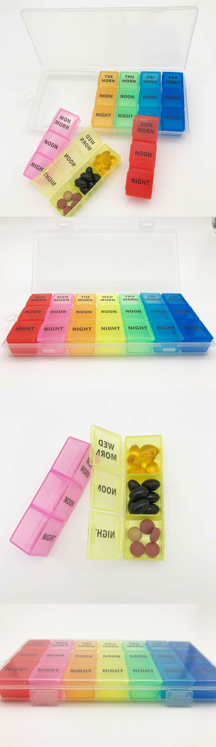 Pill Boxes Pill Cases: Pill Organizer Weekly 7 Day Am Pm Night Box Case Storage Container Planner Pl02 -> BUY IT NOW ONLY: $99.99 on eBay!