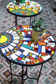 Resultado de imagen para mesas con mosaiquismo