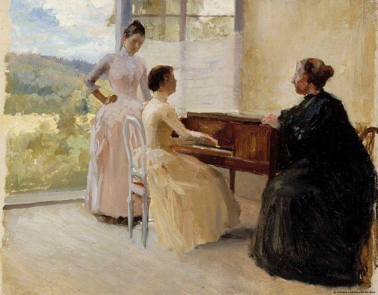 Haikon salongissa, harjoitelma, 1888