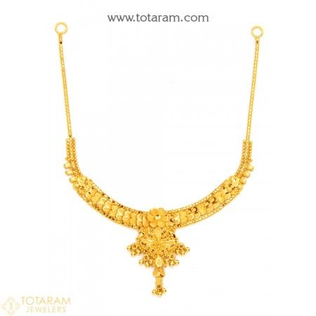 22K Gold Necklace for Women - 235-GN1891 - Buy this Latest Indian Gold Jewelry Design in 12.000 Grams for a low price of  $687.99