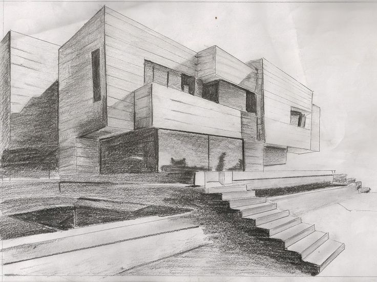 This two point perspective piece uses effective shading to describe the lighting and to define each edge.