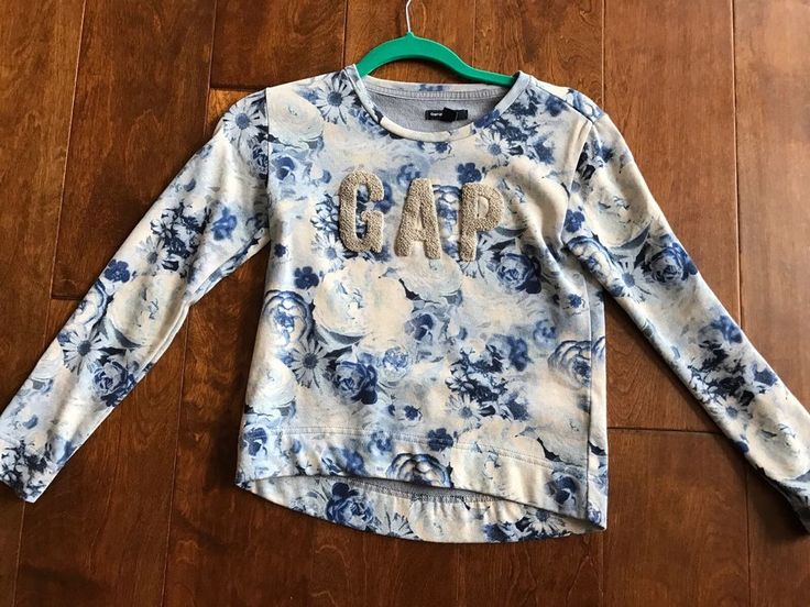 Girls Floral Gap Logo Shirt Sweatshirt Size 10  | eBay