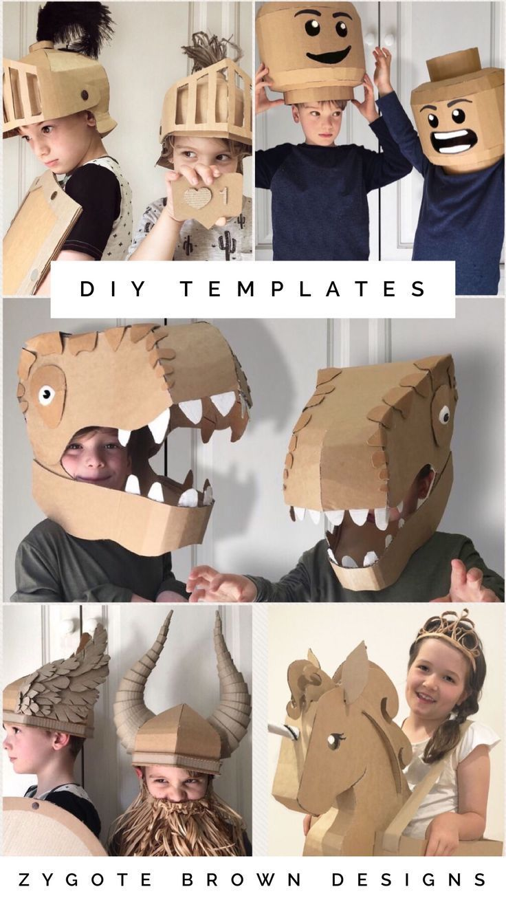 Downloadable DIY templates to make costumes out of…