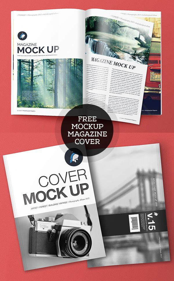Free PSD Magazine And Cover Mockups #freepsdfiles