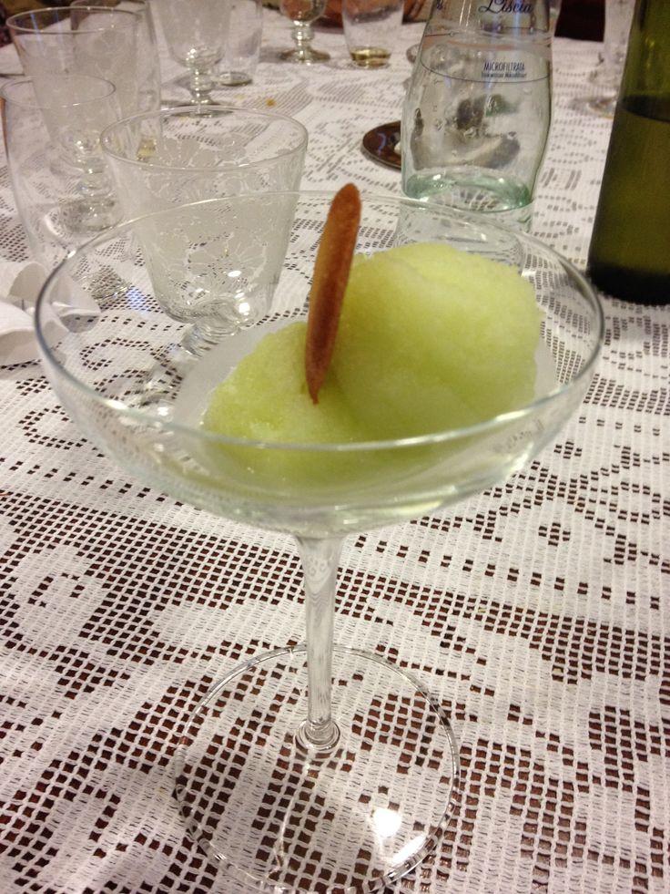 Sorbetto alla mela verde al cucchiaio