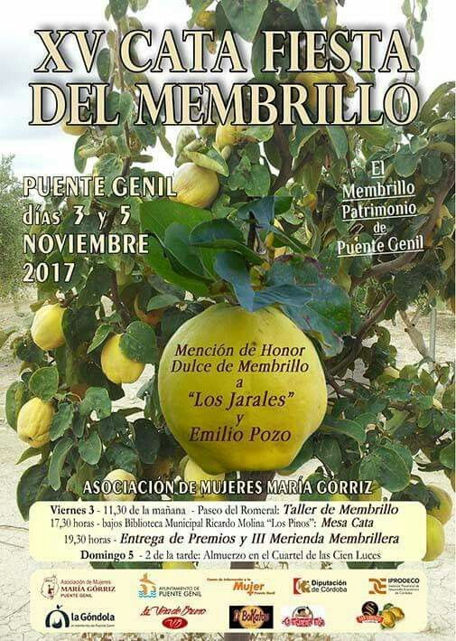 #XVCataMembrilloPuenteGenil 3 y 5 NOV. Más información http://bit.ly/CataMembrillo
