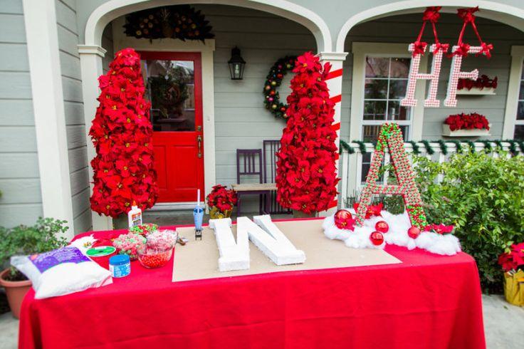 Tanya Memme's DIY Candy Monogram Wreaths | Home & Family | Hallmark Channel