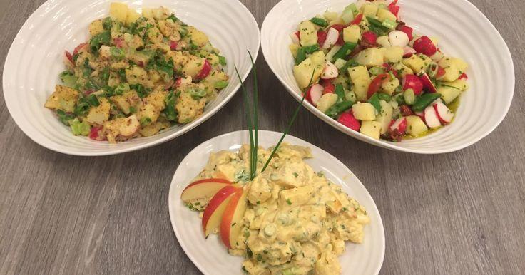 Wenche lager nydelige potetsalater som passer perfekt til et koldtbord eller grilling på nasjonaldagen! Kan serveres både til grillet kjøtt, fisk eller spekemat.