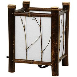 @Overstock.com - Dark Watashi Japanese-Style Table Lamp (China) - This compact Japanese-style table lamp in traditional shoji lantern style exhibits a rustic flair. This lamp is hand crafted using lightweight but durable bamboo poles with a dark wood finish.  http://www.overstock.com/Worldstock-Fair-Trade/Dark-Watashi-Japanese-Style-Table-Lamp-China/6641681/product.html?CID=214117 $48.00