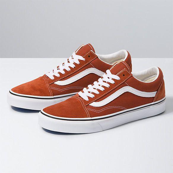 Orange vans, Vans, Old skool