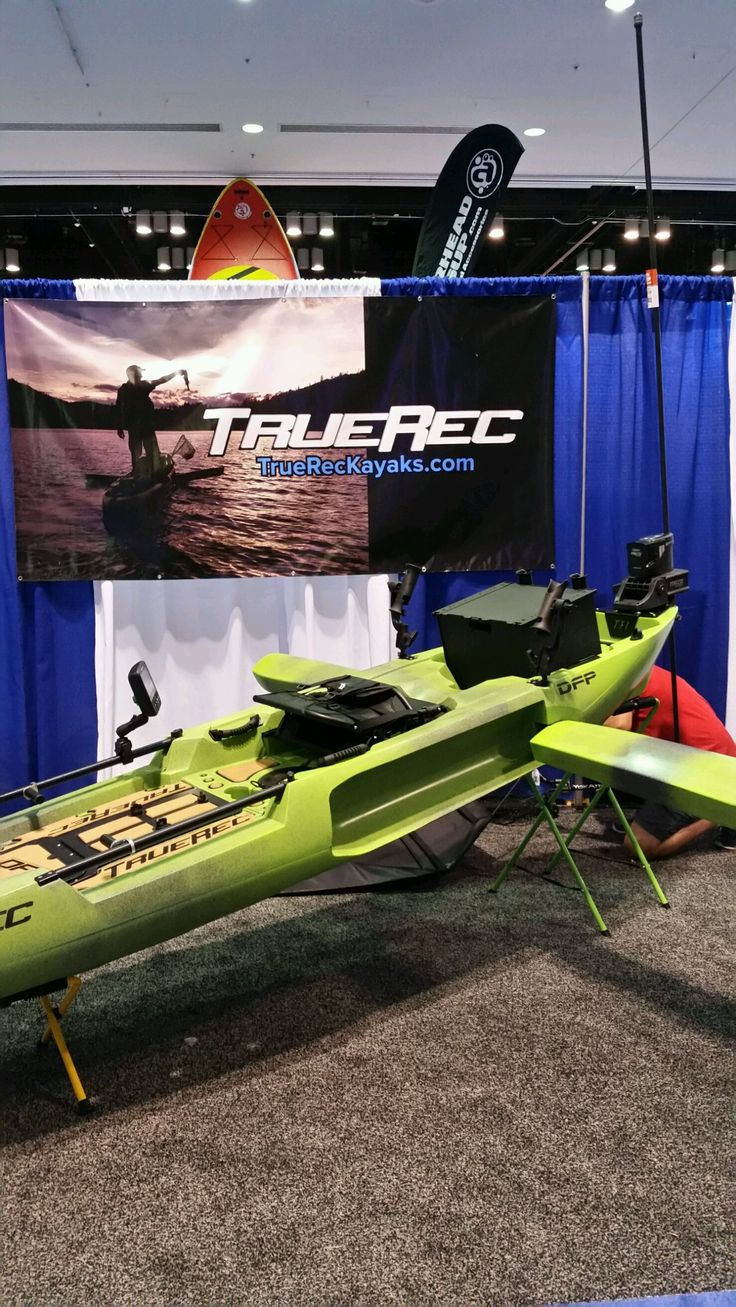 TRUEREC kayak! Can stand up and fish with ease!  www.truerecreation.com