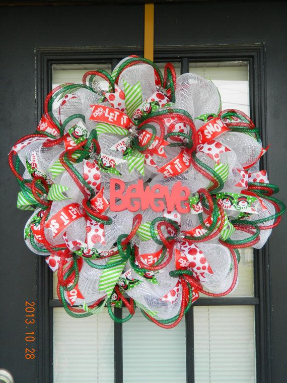 85 best Deco Mesh Wreaths images on Pinterest Christmas crafts