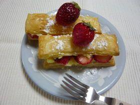 「誰でも簡単に作れるイチゴのミルフィーユ」-お菓子ミルフィーユの簡単な作り方