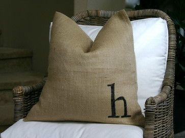 interior design orange county - Burlap pillows - eclectic - living room - orange county - by ...