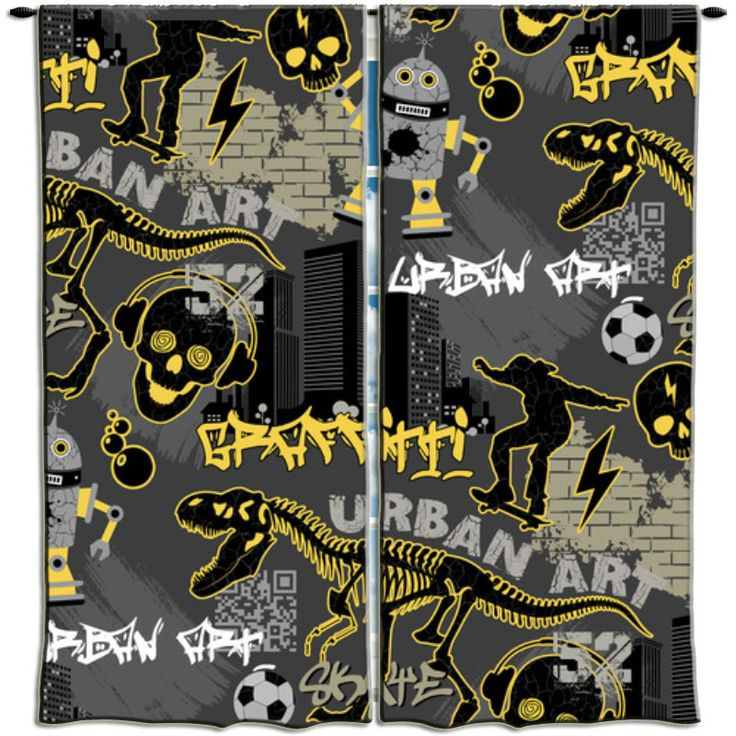 Graffiti Curtains And Kid On Pinterest. Graffiti Bedding And Curtains   Curtains Design Gallery