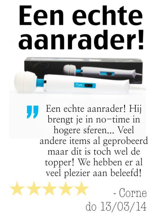 """""""Een echte aanrader! Hij brengt je in no-time in hogere sferen... Veel andere items al geprobeerd maar dit is toch wel de topper! We hebben er al veel plezier aan beleefd!"""" - Corne do 13/03/2014, Dutch owner of #EuropeMagicWand wand massager. #10outof10 stars for @EuropeMagicWand. Get more info at www.europemagicwand.nl"""
