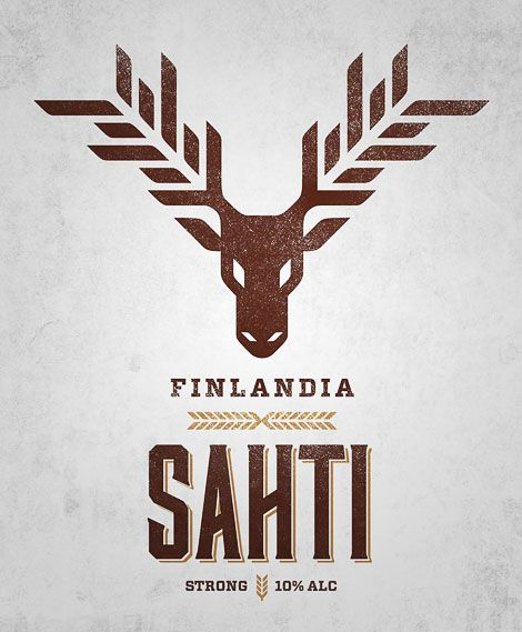Sahti Beer Label