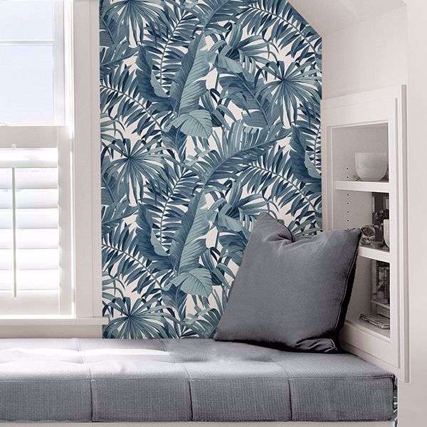 Blue Maui Peel And Stick Wallpaper Peel And Stick Wallpaper Wallpaper Removable Wallpaper