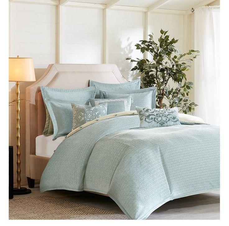 Master Bedroom Bedding Part - 43: Empress Aqua Comforter Set