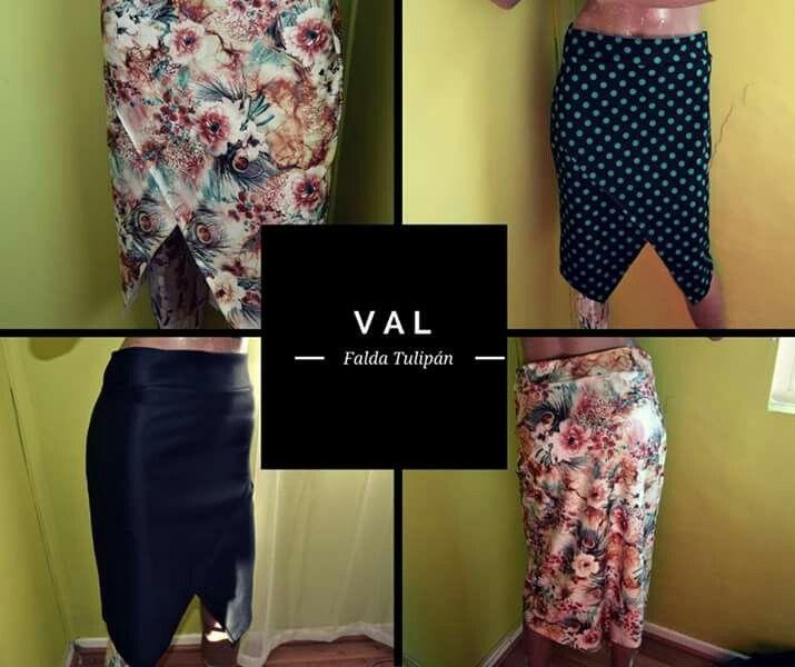 Falda Tulipán Val indumentaria tanguera, tango skirt, tango clothes from Valparaíso, Chile