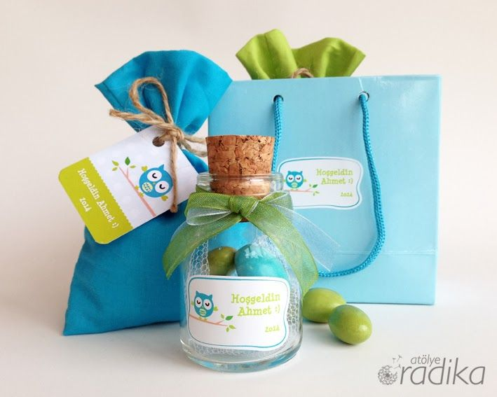 Hoşgeldin bebek hediyeleri, mavi ve yeşil, lavanta / Baby shower gifts, blue and green, lavender