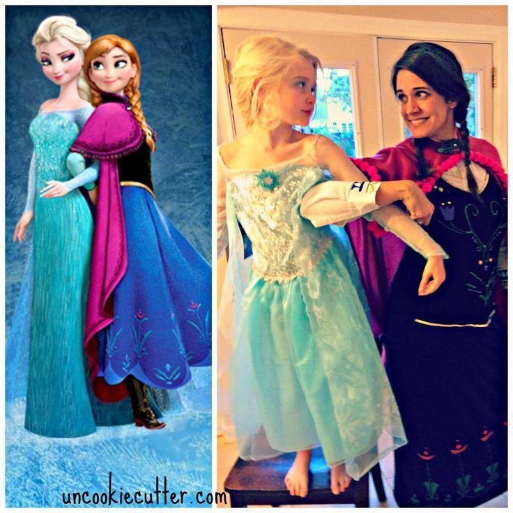 No Sew Adult Anna Frozen Costume - Uncookiecutter.com