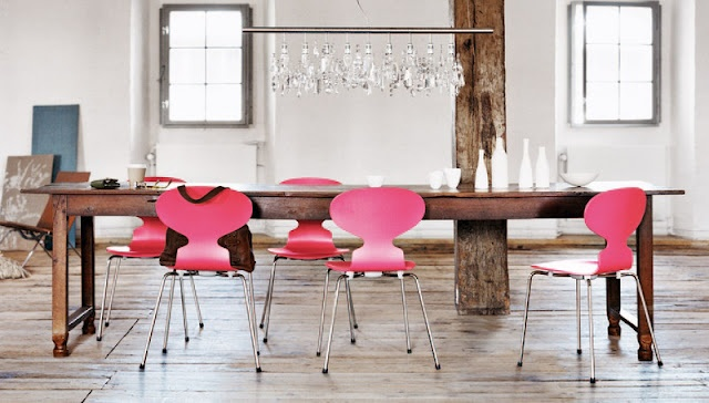 La chaise Fourmi version girly, toute rose !