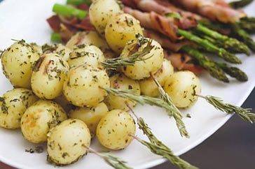 Baby Potato Rosemary Skewers.