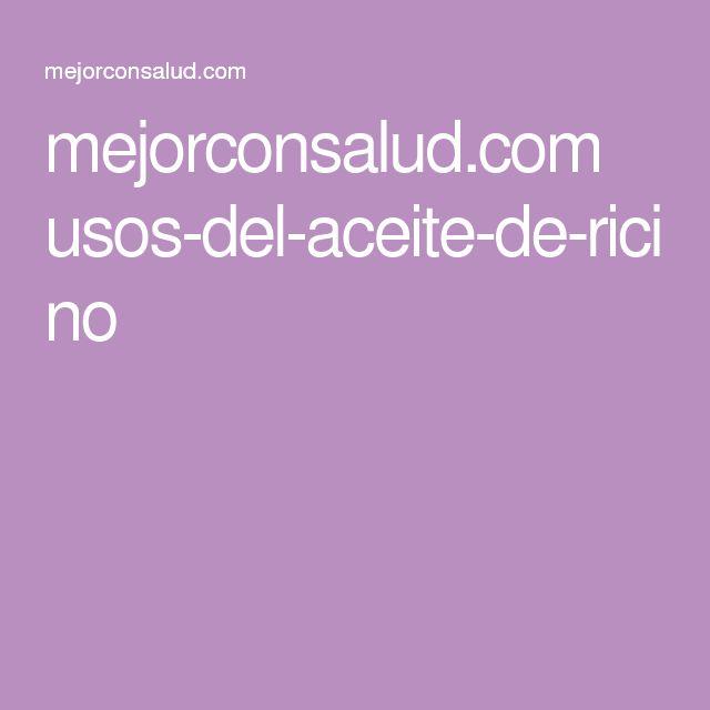 mejorconsalud.com usos-del-aceite-de-ricino