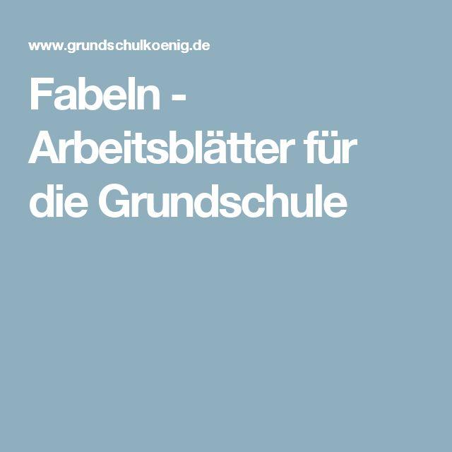Fabeln - Arbeitsblätter für die Grundschule