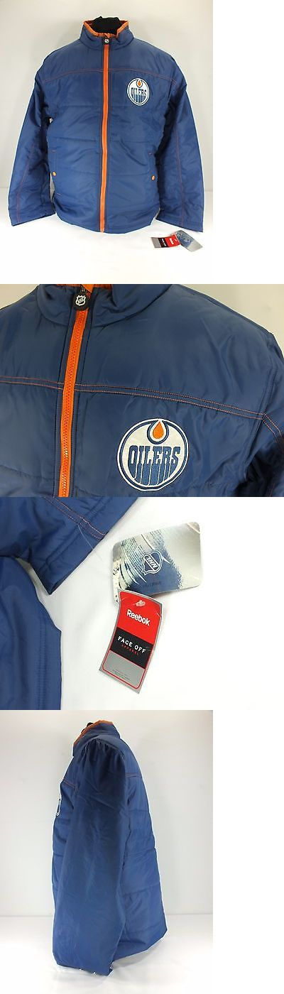 Other Unisex Clothing 155203: Edmonton Oilers Nhl Vintage Blue Orange Zip Up Jacket Size L By Reebok C37 -> BUY IT NOW ONLY: $56.41 on eBay!