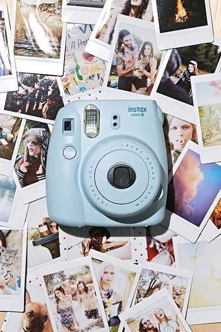 Awesome snaps in an instant; Fujifilm's Instax Mini 8 camera takes high quality, credit card-sized photos and its pocket-friendly bubble design makes it super easy to handle. affiliate link for urban outfitters. Comes complete with automatic flash and exposure compensation controls. THINGS TO KNOW: - For use with Instax Mini Instant Film - Motorised film advance - Flash range: 0.6m - 2.7m - Shutter speed: 1/60 sec - Auto power off time: 5 mins