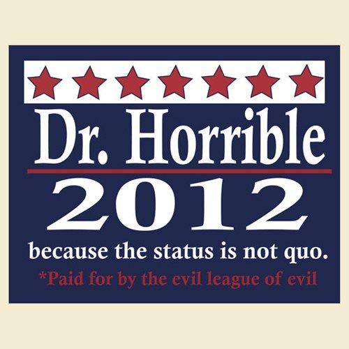 The Status is Not Quo: Nerdgeekdork Stuff, Geek Stuff, Dark Hors, Dr. Horrible, U.S. Presidents, Mega Nerdy, Random Pin, Horrible 2012, Geeky Stuff