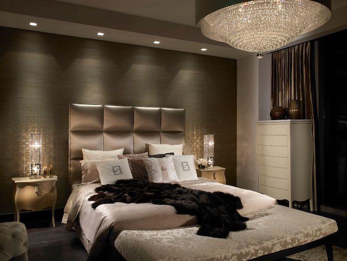 Schlafzimmer Deko Schwarz Gold