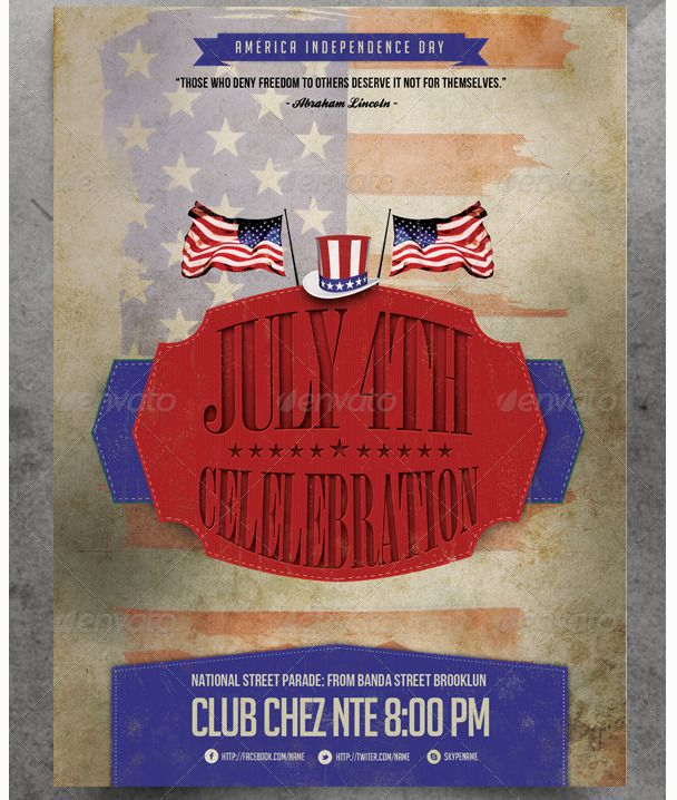 Best July Th Flyer Template Images On   Flyer