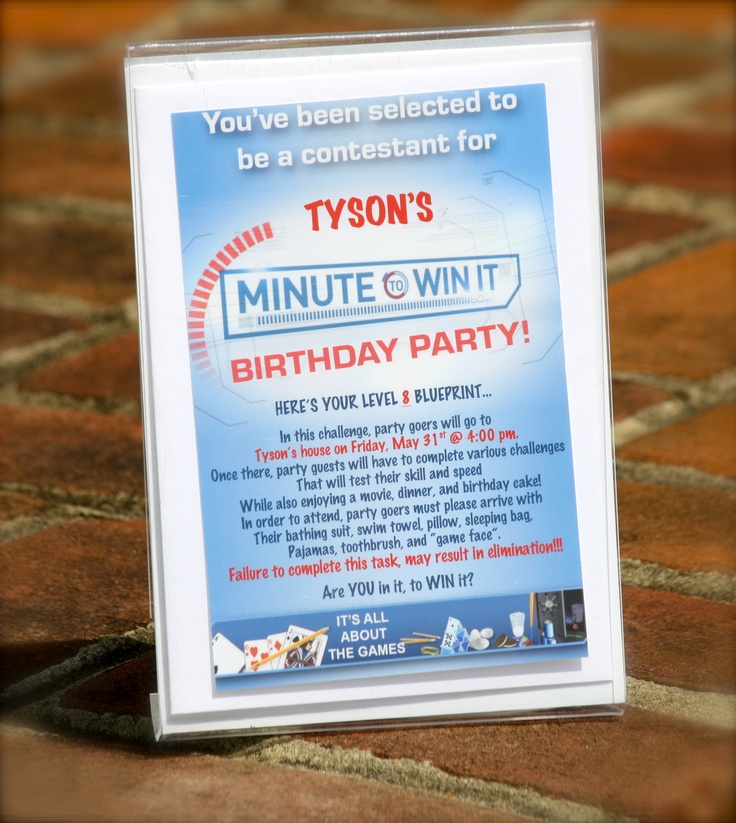 13 best Minute 2 Win It images on Pinterest Birthday party ideas - best of blueprint party dallas