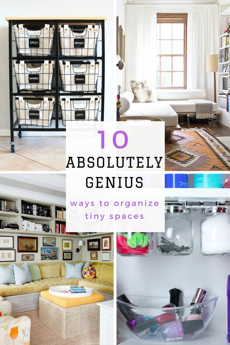 Best 25 Small Space Organization Ideas On Pinterest