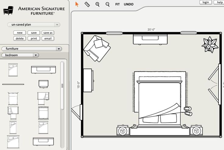 Use our room planner! Now you can see exactly how any room in your house will look before you move a thing! :)