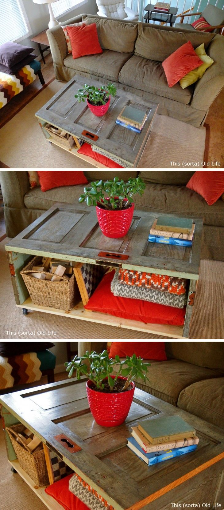 Best 25 homemade coffee tables ideas on pinterest diy wood 19 creative diy project ideas of how to reuse old doors homemade coffee tablesdiy geotapseo Gallery