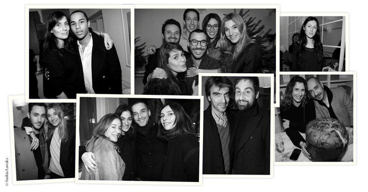 Jeudi 13 décembre, l'Atelier Franck Durand célébrait les fêtes de fin d'année et les un an de son blog. Emmanuelle Alt, Olivier Rousteing, Aurélie Bidermann, Mademoiselle