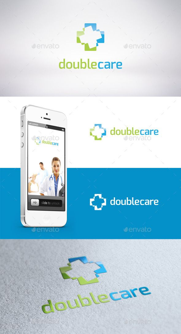 Double Care Logo Template - Symbols Logo Templates