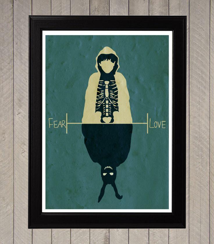 Donnie Darko, Fear and Love Minimalist Poster, Movie Poster, Art Print by CultPoster on Etsy https://www.etsy.com/listing/161852240/donnie-darko-fear-and-love-minimalist