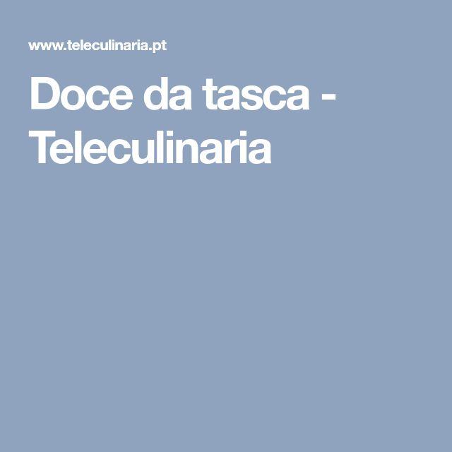 Doce da tasca - Teleculinaria