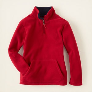 half-zip fleece pullover from The Children's Place - already has become my son's favorite pullover!  COZY!