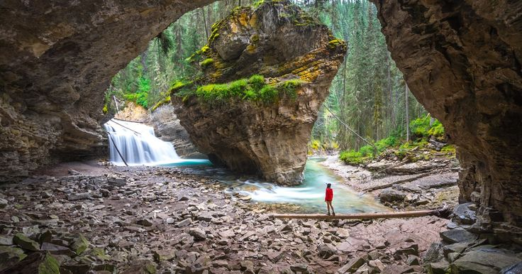 Johnston Canyon is one of Alberta's many gems. It's amazing how much varied scenery you see over the course of the very short 1.7 mile hike.