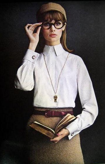 Jean Shrimpton, Mademoiselle Magazine, 1964 (Lady Van Heusen Advertisement)