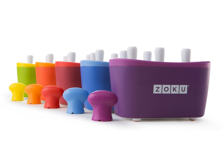 The patented Zoku® Quick Pop® Maker freezes ice pops in as little as seven minutes right on your countertop, without electricity. Use it to make striped pops, yogurt pops or flavored core pops.