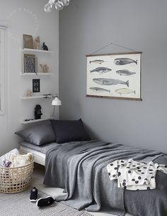 6 Habitaciones para Niños serenas y neutras en gris