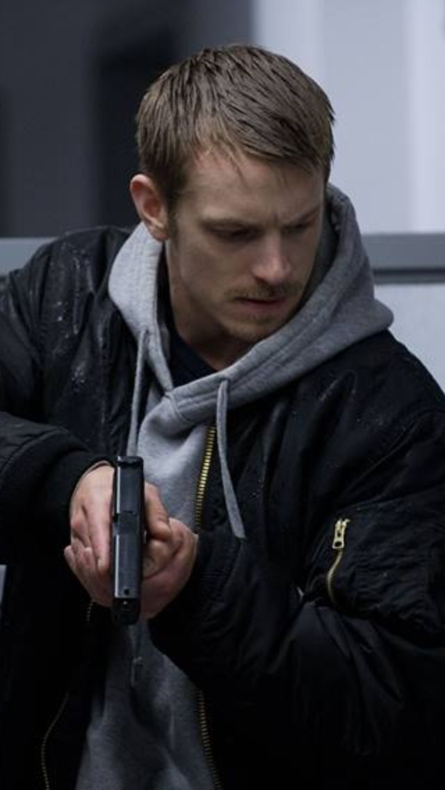 Holder/Joel Kinnaman    The suit is fine, but he looks his best in his hoodie and jacket.
