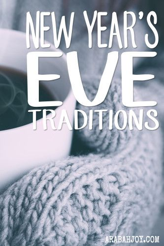 Try these fun family traditions for your next New Year's celebration!